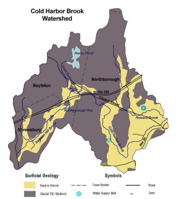 Cold Harbor Brook Surficial Geology