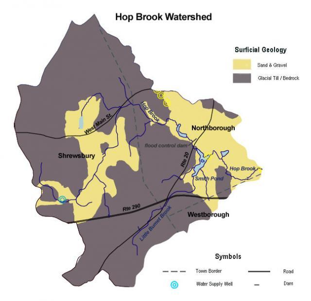 Hop Brook Surficial Geology